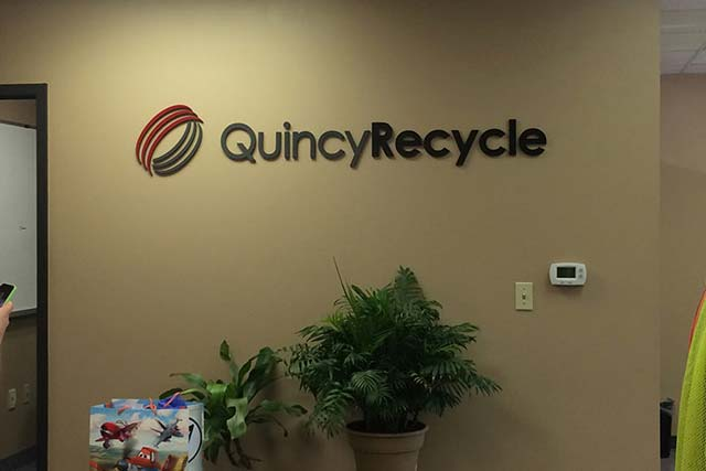 Quincy Recycle Wall Lettering