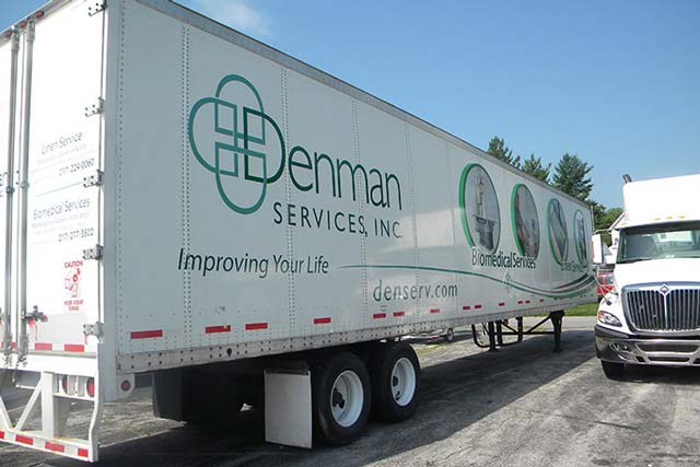 Denman Linen Services Semi Trailer