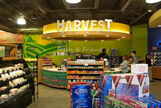 Harvest Market Canopy Wall Graphic