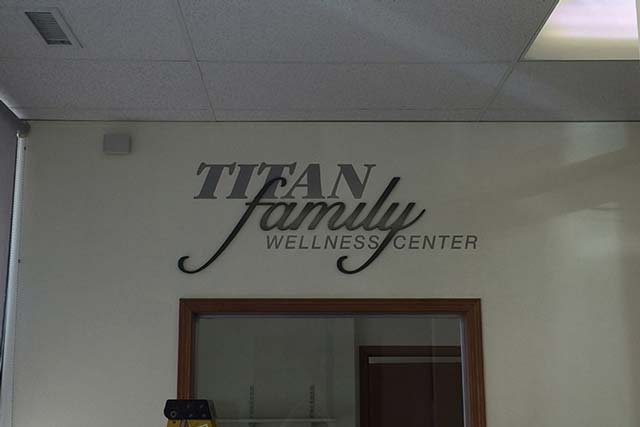 Titan Wellness Center Wall Lettering