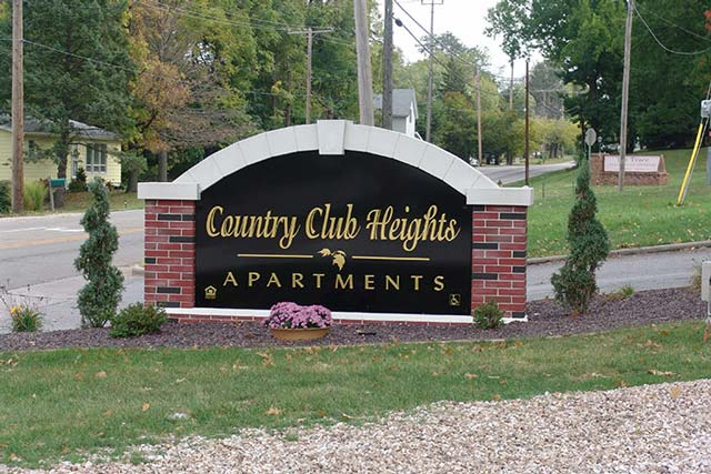 Country Club Heights Sign