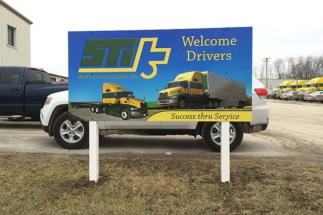 Sharkey Trucking Welcome Sign