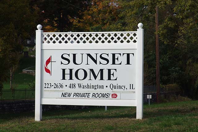 Sunset Home Post Panel Sign