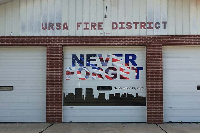 Ursa Fire Dept Garage Door Graphics