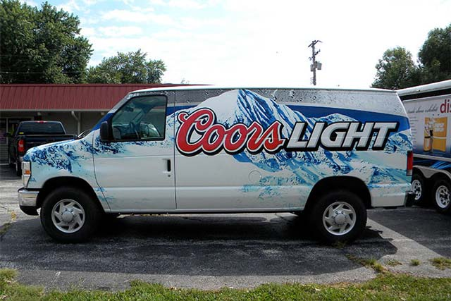 Coors Light Van