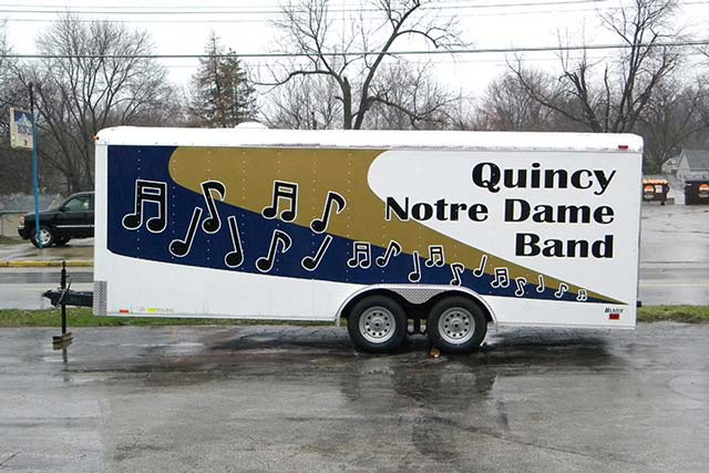 Quincy Notre Dame Band Trailer